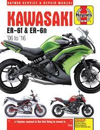 kawasaki ex650 u0026 er650 06 16 haynes repair manual haynes manuals