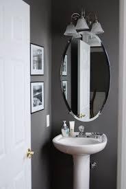 Benjamin Moore Gray Bathroom - grey half bathroom decoration idea home pinterest gray half