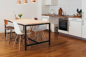 ideas for kitchen floor cabinet kitchen oak flooring the and the bad of laminate