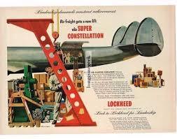 Lockheed Constellation Interior 1946 Lockheed Constellation Interior Airplane Stewardess Print Ad