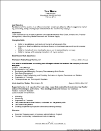 Most Updated Resume Format Before Version Of Resume Sample Office Manager Resume Sample