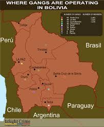 Gang Map Bolivia Maps Gang Presence