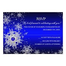 royal blue pearl snowflake christmas party rsvp card u2013 invitations 4 u