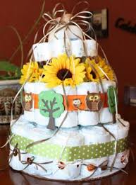 hooty hoot owl diaper cake