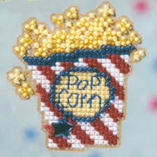 popcorn beaded cross stitch ornament kit mill hill 2009 bouquet