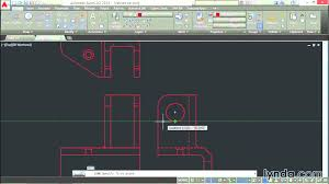 autocad 2015 tutorial engineering project part drawing lynda