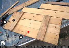 How To Build Kitchen Table by How To Build A Beautiful Rustic Pallet Cabinet Construction By