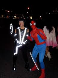 Tron Halloween Costume Light Up by West Hollywood Halloween Carnaval Heroes And Highlights Jason
