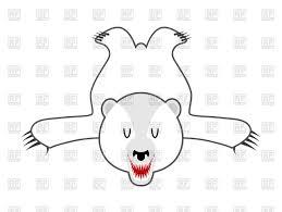 white bear skin bearskin of polar bear vector image 141373