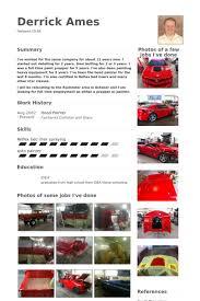 Sample Car Sales Resume by Painter Resume Samples Visualcv Resume Samples Database