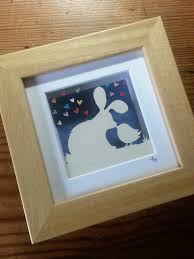 kisses bunny u0026 bird u0027 original paper panda papercut papel