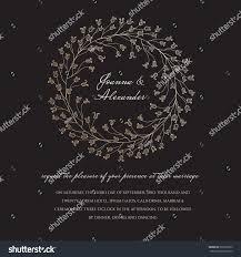 Wedding Invite Verbiage Wedding Invite Sample Floral Sparkling Wreath Stock Vector