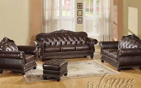 Brown Leather Living Room Set Anondale Brown Leather 2 Living Room Set By Acme 15030 S