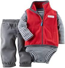 carter s baby boys 3 piece fleece vest set baby