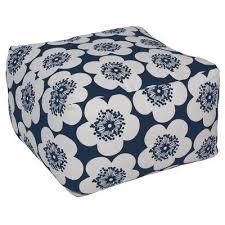 Pouf Ottoman Insert Aimee Wilder Designs Pop Floral Pouf Ottoman Upholstery Ink