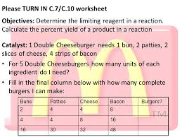 please turn in c 7 c 10 worksheet objectives determine the