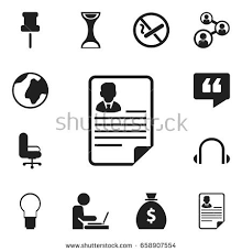 icon bureau set 12 editable bureau icons includes stock vector 658907554