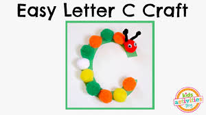 easy letter c craft preschool alphabet resource youtube