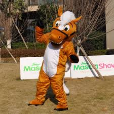 horse halloween party lovely brown horse mascot costume for festival halloween christmas