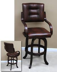 Bar Stool With Back And Arms Extra Tall 34 Inch Bar Stools