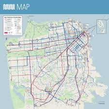 Mta Map Subway Muni System Map Sfmta