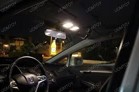 honda civic with warm white led bulbs for interior lights