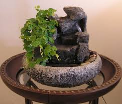 small indoor table fountains small indoor fountain w live plants 23 natural creations home