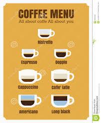 espresso coffee clipart espresso coffee menu stock vector image 63291922