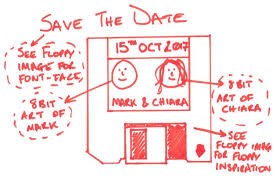Digital Save The Date Creating A Digital 8 Bit Pixel Art Save The Date Design