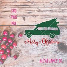 christmas jeep silhouette merry christmas svg christmas tree svg station wagon svg