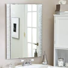 bathroom cabinets frameless beveled mirror vanity with mirror 24