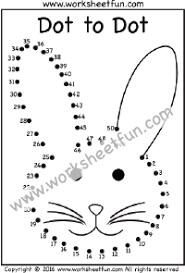 dot to dot u2013 bunny u2013 rabbit u2013 numbers 1 50 u2013 one worksheet