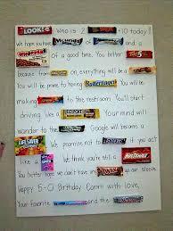 candy for birthdays candy birthday cards js0cfvdsk 50th birthday gift ideas