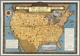 Map Od Map Of The Gifts Of Nature To America David Rumsey Historical