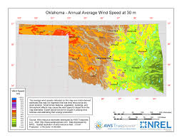 map of oklahoma windexchange oklahoma 30 meter residential scale wind resource map