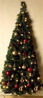 half christmas tree pre lit wall mount half christmas tree light up clear led lights