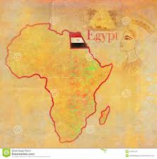 Egypt On World Map Egypt On Actual Vintage Political Map Of Africa Stock Illustration