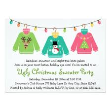 sweater invitations zazzle