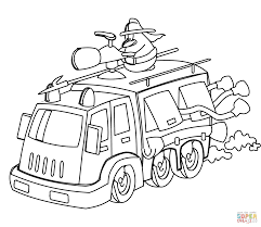 cartoon fire truck coloring page free printable coloring pages