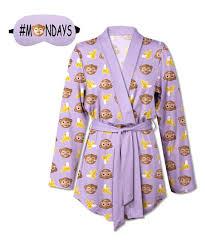 emoji robe sunshine dream purple monkey banana emoji robe aromatherapy eye