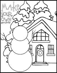 Winter Color Sheet Coloring First Grade Winter Coloring Sheets For Winter Coloring Pages Free