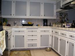 kitchen long gray white wooden cabinet with floating storage