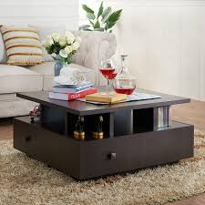 furniture of america aerith multi cubby square coffee table shop