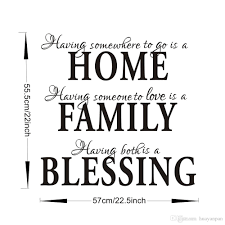 home decor free shipping 2015 fashion home family blessing wall quote sticker decal removable