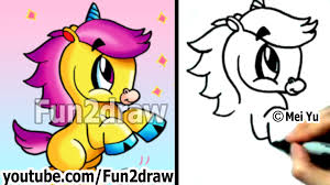 how to draw cartoon animals how to draw an unicorn cute