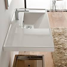 Rectangular Drop In Bathroom Sink by Scarabeo 3009 By Nameek U0027s Ml Rectangular White Ceramic Drop In Or