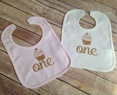 1st birthday bib premuim birthday bib pink and gold glitter one by mmsbling