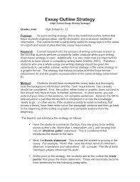 Five Paragraph Essay Outline Example An Essay Outline