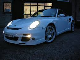 porsche for sale uk used porsche 911 2008 turbo ceramic sat nav convertible white