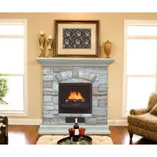 portable electric fireplace stove chimney free estate wall mantel